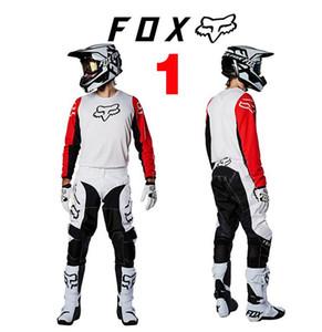 2020 Nuevo 180 FOX largo de la manga de la camiseta del motocrós Conjunto traje de carreras Traje de 360 profesionales del campo Montar Conjunto