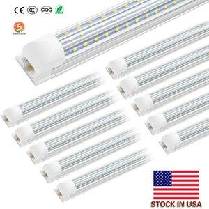 8ft Led Tube Light, 120w 72w 6000k 8 foot Led Tubes V Shape Integrated Cooler Door Light, Triplex Row D Shape Integrated LED Fixtures