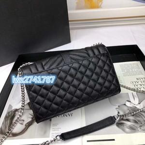 nouveau sac sac de mode en cuir véritable style de caviar femmes épaule rabat sac à main bandoulière pour les femmes avec boîte
