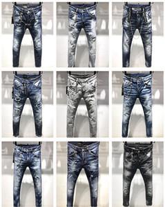 Dsquared2 dsq2 SS20 новое поступление D2 высокое качество бренд дизайнер мужчины джинсовые прохладный парень джинсы вышивка брюки мода отверстия брюки Италия размер 44-54