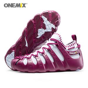 ONEMIX روما أحذية رجالية الاحذية الخفيفة في الهواء الطلق النساء احذية تريكو للبيئة ودية متعددة الوظائف الركض