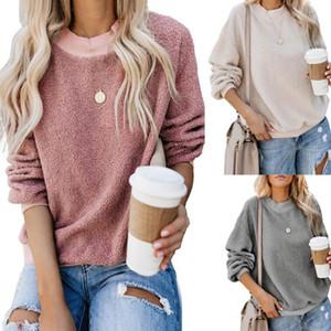 Lüks Bayan Kapüşonlular 2020 Tasarımcı Sonbahar Moda Hoodies Sweatshirt Casual Katı Renk Bayan Giyim Boyut S-2XL Tops