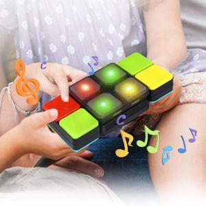 Music Cube Reto inteligente de rompecabezas Magic Cube con música electrónica para bebés y niños Puzzle Cube