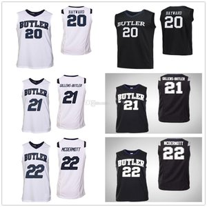 Butler Bulldogs College di Gordon Hayward # 20 Jerald Gillens-Butler # 21 Sean McDermott # 22 del pullover di pallacanestro Mens cucito su misura qualsiasi nome
