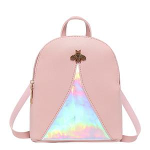 Tasarım Sırt Çantası marka tavsiye bayanlar moda baskı Sırt Çantası arı kilit omuz çantası kaliteli banliyö çanta