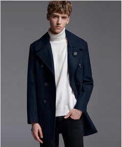 Luxury Mens Plus Size Coats Designer Double Breasted Teenager Wool Blends Coats Fashion Slim Mens Jacket