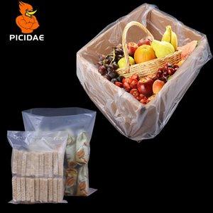 PE mat givré transparent ouvert de poche en plastique d'emballage à basse pression Boîte de rangement Sac intérieur à membrane grain poupée