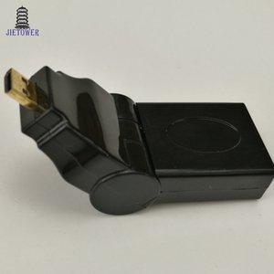 100 pçs / lote Micro HDMI MACHO PARA HDMI FÊMEA de 90 180 graus Pode ser ajustado Rotação Giratória Angular Adaptador