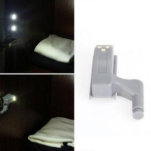 Luz de bisagra LED universal para armario de cocina Armario Dormitorio Dormitorio Luz de noche Sensor de luz interior Bisagra debajo del gabinete