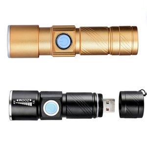 Taşınabilir USB Şarj Edilebilir El Feneri Mini Handy Açık Kamp Penlight Için LED Flaş Işık Fener Su Geçirmez Torch LJJZ62
