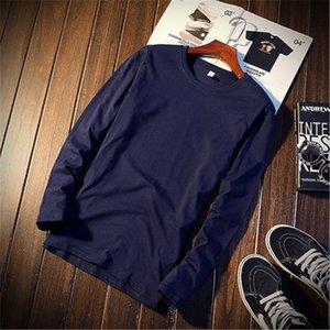 2019 Tops Высокого качества Pure Color Unisex тенниска Оптовой Мода весна осень вскользь Mens и женщины с длинным рукавом футболка .B101844Y
