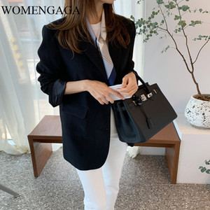 Women's Suits & Blazers Korea 2021 Spring And Summer Korean Styles Fashion Women Clothes Notched Single Breasted Female Blazer Y042