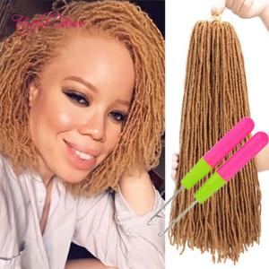 Ganchillo largo cabello Extensiones de cabello sintético libre 18Inch de trenzado del pelo de los dreadlocks de bricolaje MicroLocs hermana Locs recta de la Mujer Dhgate Marley