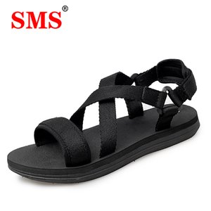 SMS 2020 New Men Summer Outdoor Mens Flats Casual Beach Athletic Shoes Non-slip Sport Summer Quality Beach Sneakers Sandals Plus