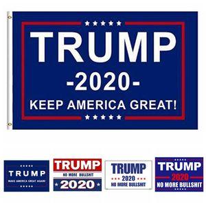 90 * 150 cm Donald Trump Flag America President Election Banner Trump Etiqueta engomada del coche Publicidad Bandera Pegatinas exquisitos HHA327