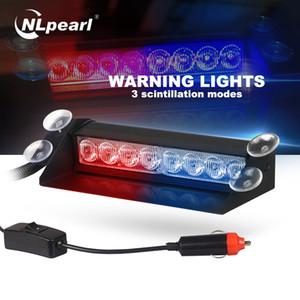 Nlpearl 1x Oto Işık Montaj Led Strobe Işık Car Kamyon Acil Uyarı Kırmızı Mavi Led Işıklar 3 Yanıp sönen Modları 12V