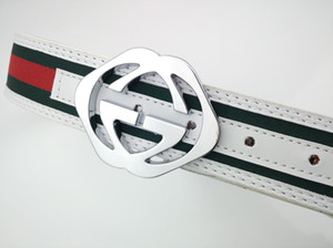 20 new high quality woven belt with metal buckle for men and women. Silver buckle. menLuxuryDesignerBrand1Ggg b