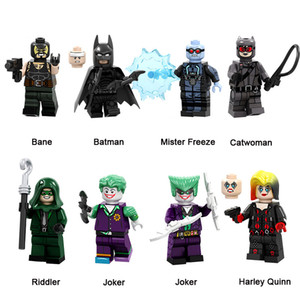 DC Super Hero Building Blocks Bane Batman Mister Freeze Catwoman Riddler Joker Harley Quinn Mini Action Figure Toy