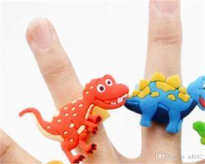 Anneau De Dinosaure Enfant Anneaux En Caoutchouc Baby Shower Bracelets PVC Matériel Décorations De Fête D'anniversaire Vente Directe D'usine 0 35hp C1