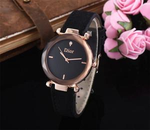 Venta caliente de las mejores marcas de mujer Waches Montre Femme reloj de cuarzo de cuero de alta calidad para mujer elegante reloj de mujer regalo para niña Relojes Mujer