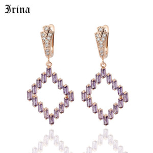 Irina Korean Version Of The Lady Hanging Drop Earrings 585 Rose Gold  Bright and Attractive Party Earrings For Women