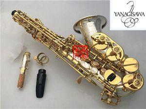 YANAGISAWA SC-9937 Small Curved Neck Soprano Saxophone B Flat High Quality Brass Nickel Silver Plated Soprano Sax With Mouthpiece Case