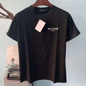 Balmain Yeni Geliş Erkek T Shirt Moda Erkekler Kadınlar Gömlek Balmain Paris Stilist Tees Boyut S-XXL