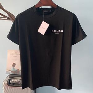 Balmain New chegada dos homens Camisetas Homens Mulheres Moda Shirts Balmain Paris Stylist Tees Tamanho S-XXL