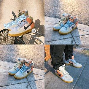 2020 Travis Scotts SB Dunk High PRO Spectrum Eggs Chaussures Skateboard hommes Cn femmes Cactus Jack Parachute Beige Petra neakers CN8345-001