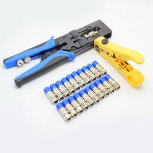 Freeshipping Durable Coax compression Pince à sertir Outil Bnc / Rca / F Crimp Connecteur Rg59 / 58/6 Cutter fil câble réglable rabattement Plie