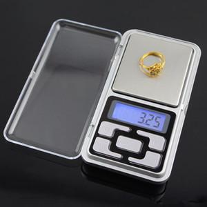 200 g x 0.01 g 500 g x 0.1 g Balanzas digitales Mini Balanzas de precisión Iluminación de fondo Balance de peso Gramo Escala de bolsillo electrónica DHL libre