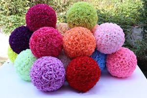 홈 정원 시장 장식을위한 인공 장미 꽃 볼 12 인치 30cm 웨딩 장식 꽃 공 실크 꽃 공