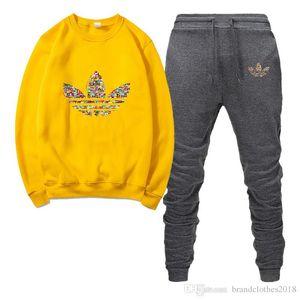 2019 Outono nova sportswear dos homens designer de design e carta sportswear masculina de inverno impressão de esportes dos homens ocasionais de jogging terno