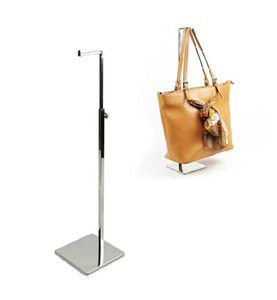 free Shipping 2pcs  pack 7-type Metal Mirror & black surface handbag display stand holder racks zcy hot sale