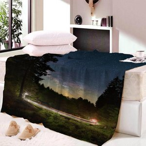 House Ocean Scenery Sunlight Warm Soft Blanket Office Sofa Plush Blanket Bedspreads Quilt Drop Ship