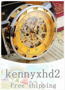 Winner, European and American Roman digital openwork Vintage Belt manual mechanical watch