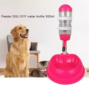 Pet Cat Dog Water Drinker Dispenser Food Stand Feeder Dish Liftable Water Bottle Automatic Fountain Drinker
