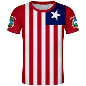roupas logotipo impressão faculdade liberiana país camisa LIBÉRIA t livre feitos número nome LBR t-shirt da bandeira da nação diy lr república