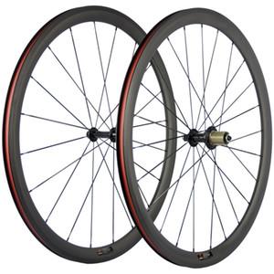 Завод продаж 38мм Глубина заклепка Колеса R13 концентратор 23мм Ширина колеса углерода дорожный велосипед 700C Передние + Задние Углерод Колесная