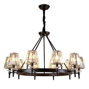 Американская люстра простой современной гостиной свет в творческой личности ресторанного света кристалла кованого железа лампы спальни