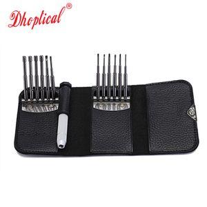Dhoptical wallet screwdrivers Kit Repair Tool للنظارات / النظارات / ساعة / الهاتف المحمول / الساعة (12PCS ، جيب السفر) بواسطة dhoptical