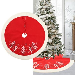 1 Adet Yılbaşı Ağacı Etek 35 / 48inch Ev Kat Mat yeni yıl için Yuvarlak Halı Noel Süsleri 2019 Noel Ağacı Etekler