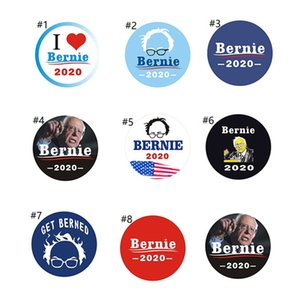 16 Colors Round Trump 2020 Brooch Letter Keep America Great Pins Bernie Sanders Badge Brooch Pins Presidential Election Brooches Pins E22808