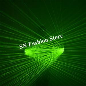 L86 palm ışık Ile lazer eldiven yeşil lazer ışığı balo salonu dans kostümleri dj işıklı eldiven bar parti sahne eldiven disko giyer 4 adet kafaları