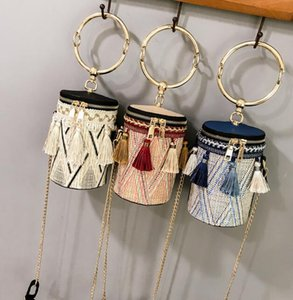 Super fire literary tassel 2019bags new summer messenger bag personalized chain cylinder wholesale direct sales women