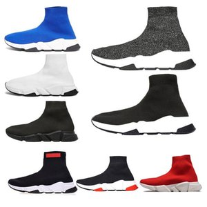 2020 Speed Running Shoes balanciaga Traniner Casual Shoes Men Women Black Sneakers White Red Luxury Sock Sneaker Sports ShoesrEQO#