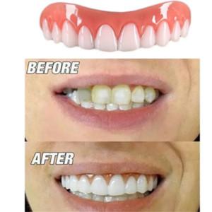 Mükemmel Anında Gülümseme Konfor Fit Flex Diş Beyazlatma Protez Yanlış Diş Üst Kozmetik Sahte Diş Kapak Güzellik Aracı protez Yapıştır