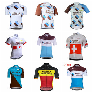 Maglia ciclismo uomo team AG2R 2019 Maglia ciclismo manica corta poliestere slim fit H71501