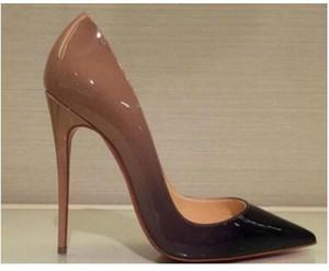 бесплатная доставка IRed Bottom Cymn Черный Остроконечные Toe Экстремальный Высокие каблуки стилет Женщины насосы Свадеб модельная обувь черный Насосы шипованная Heels