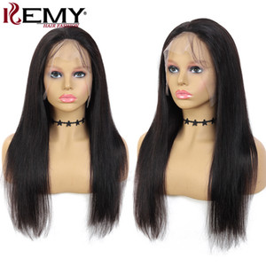 Natural Color Human Hair Lace Wigs Brazilian Straight 13x4 Lace Front Human Hair Wigs For Women Middle Part Remy Hair Wig 150%